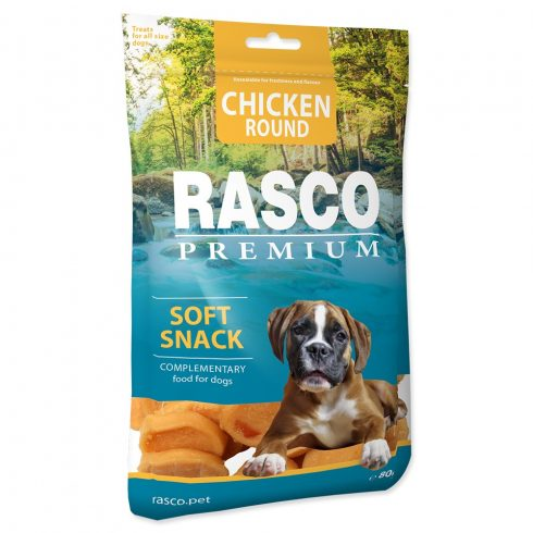RASCO Premium Chicken Round Soft Snack 80gr ( csirke gyűrű-jutalomfalat kutyáknak)