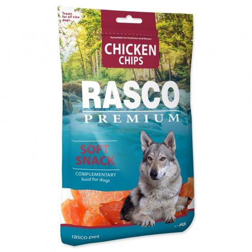 RASCO Premium Chicken Chips Soft Snack 80gr (Csirke chips- jutalomfalat kutyáknak)