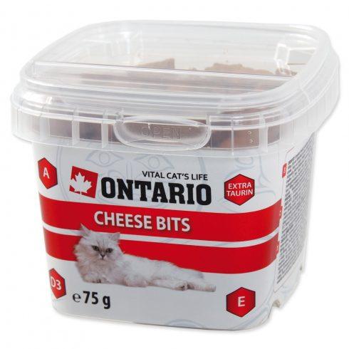 ONTARIO Cat Cheese Bits 75gr (sajtos jutalomfalatok macskáknak)
