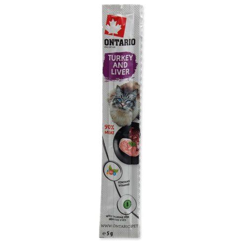 ONTARIO Stick Turkey & Liver 5gr (pulykás és májas jutalomfalat pálcika macskáknak)