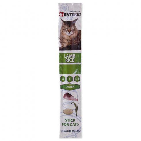 ONTARIO Stick Lamb & Rice 5gr (Bárányos és rizses jutalomfalat pálcika macskáknak)